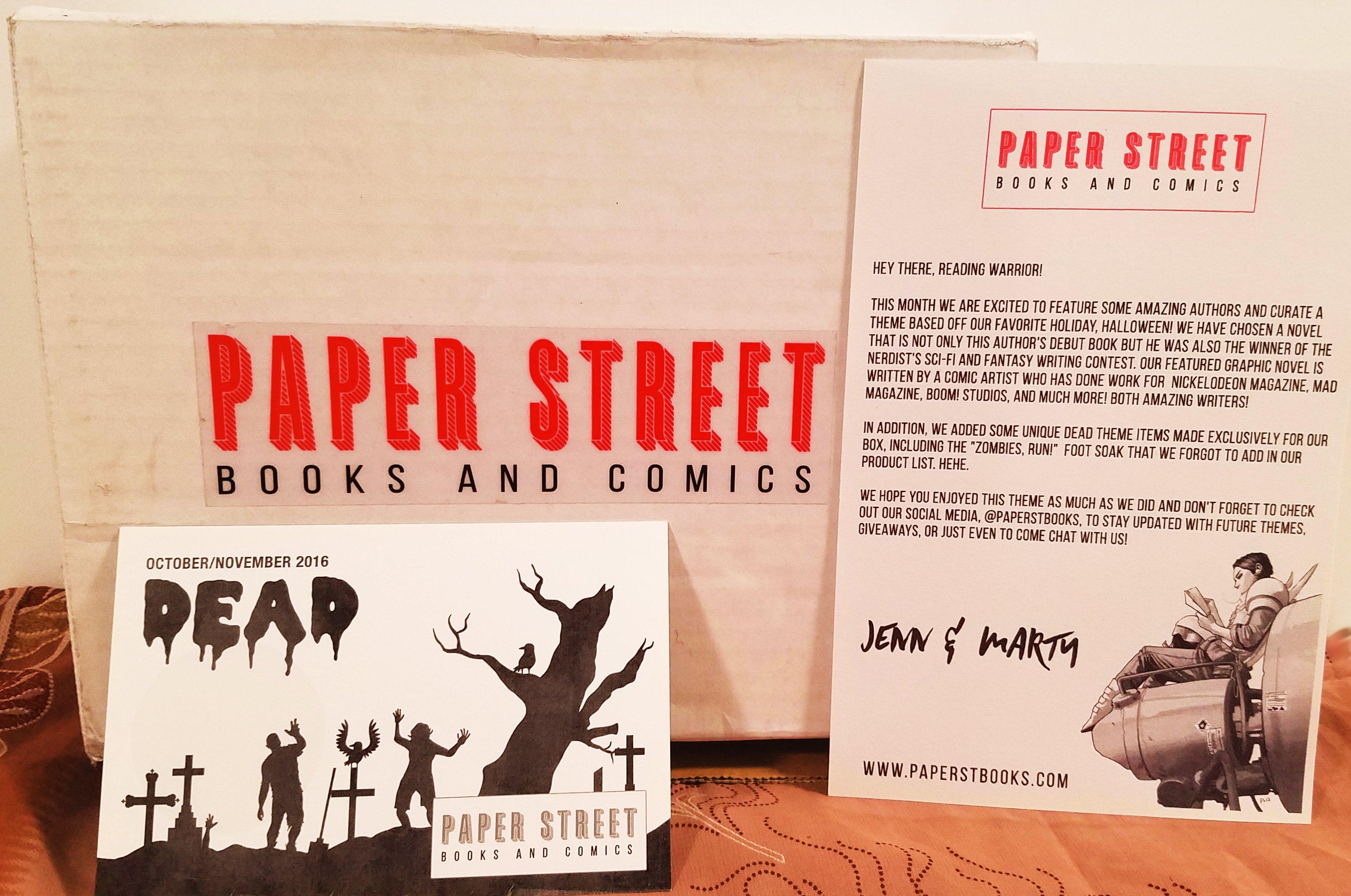 Paper Street Books & Comics- October/November 2016