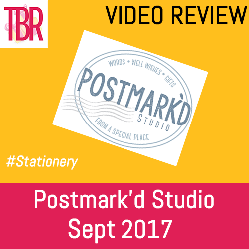 Postmark'd Studio- PostBox September 2017 Unboxing – COUPON!