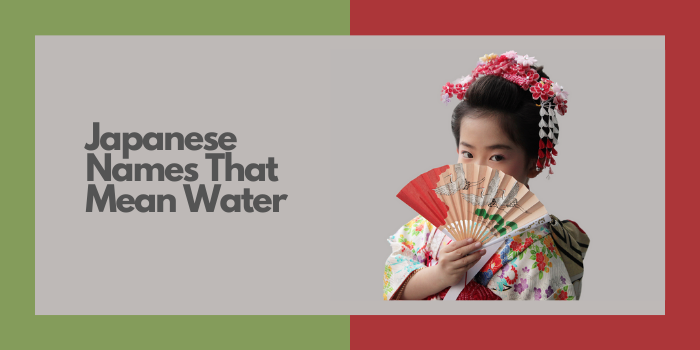 Japanese Names That Mean Water